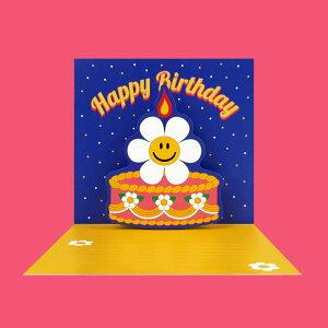 Pop-Up Card - Birthday (Cake) ポップアップ カード お誕生日 プレゼント 可愛い おしゃれ おすすめ ユニーク グリーティングカード