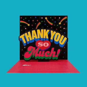Pop-Up Card - Thank you so much ポップアップ カード お誕生日 プレゼント 可愛い おしゃれ おすすめ ユニーク サンキュー グリーティングカード