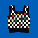 Knit Vest - Retro Cube ニットベスト 暖かい おしゃれ ポップ 可愛い かわいい おすすめ 韓国 人気