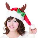 リボントナカイサンタ帽 クリスマス クリスマス コスプレ トナカイ 衣装 トナカイ コスプレ トナカイ コスチューム