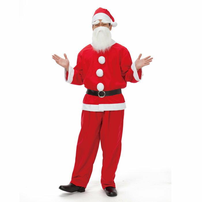 サンタクロース メンズ 男性用 サンタクロース 衣装 コスチューム クリスマス コスプレ
