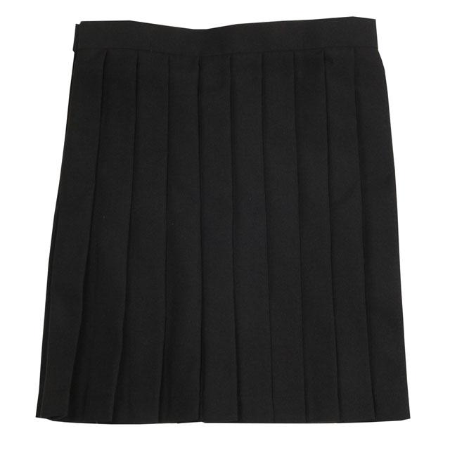 女子高生 高校 中学 制服 Teens Ever スカート (ブラック無地) M Lサイズ