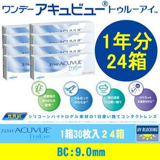 [콘택트 렌즈]1-DAY ACUVUE Tru Eye(BC9.0mm)(사용 기간:1일/ 내용량:30 장 / 상자* 24 상자)