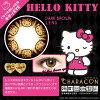 [平光±0.00D 彩色隱形眼鏡]CHARACON Hello Kitty DARK BROWN(使用週期:每月 | 計價單位:2)