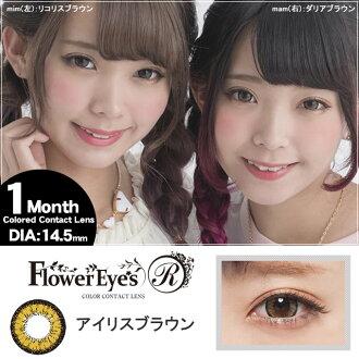 [彩色隱形眼鏡]Flower Eyes R(Iris Brown)(使用週期:每月 | 計價單位:1片/盒 * 2盒)