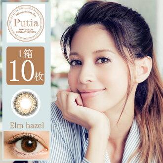 [-0.00 컬러 렌즈] Putia 1day Elm hazel (사용 기간:1일 / 내용량:10 장 )