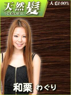 天然的頭髮(人發)封條延長和栗(waguri)apap8 02P03Dec16