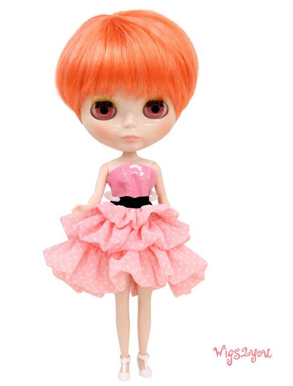 【Wigs2dolls】人形・ドールウィッグ/B-183/ショート/Blythe/ブライス/コスチューム /オリジナル/人気商品/撮影にも【楽天BOX受取対象商品】