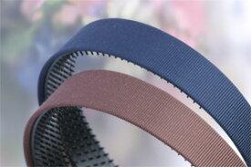 カチューシャ 痛くならないカチューシャ 巾25mmフラット 織りが引き立つグログラン素材
