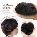 ヘアピース 人毛100% 円形脱毛症 部分ウィッグ ポイントウィッグ 増毛 人気 つむじカバー ストレート 1017