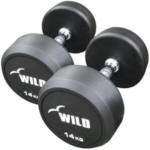 [WILD FIT ワイルドフィット] 固定式ダンベル 14kg WF 2本セット送料無料 ジムダンベル 宅トレ 筋トレ トレーニング 腹筋 鉄アレイ