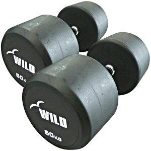 【楽天スーパーSALE&39ショップ】固定式ダンベル 50kg WF 2本セット【代金引換不可】[WILD FIT ワイルドフィット]送料無料 ダンベル ウエイト 筋トレ トレーニング 腹筋 背筋 ベンチプレス