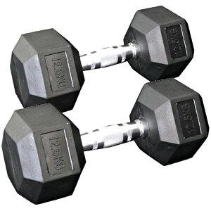 [WILD FIT ワイルドフィット] 固定式六角ダンベル12.5kg 2本セット送料無料 ダンベル バーベル ウエイト 筋トレ トレーニング 腹筋 背筋 ベンチプレス ジム