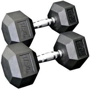 [WILD FIT ワイルドフィット] 固定式六角ダンベル17.5kg 2本セット送料無料 ダンベル バーベル ウエイト 筋トレ トレーニング ベンチプレス ジム