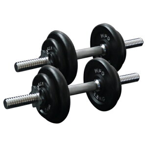 [WILD FIT ワイルドフィット] アイアンダンベルセット 20kg送料無料 筋トレ ダンベル 筋肉 ダイエット トレーニング 鉄アレイ