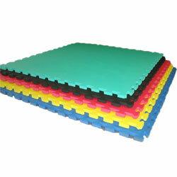 ジョイントマット(50枚以上) 全5色 黒・ピンク・青・黄・緑 ジグソーマット・EVAマット[WILD FIT ワイルドフィット] 送料無料