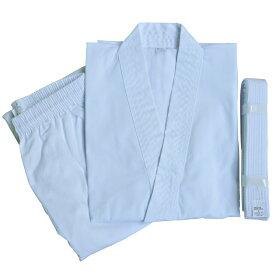 白帯付 純白伝統型空手衣 00号 [※返品・交換不可][WILD FIT ワイルドフィット] 送料無料 初心者 道着 帯 子供