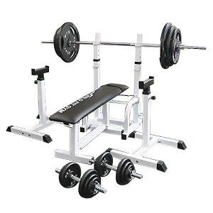 【プレゼント付】フォールディングジムセット アイアン 140kg[WILD FIT ワイルドフィット] 送料無料 バーベル ダンベル ベンチプレス トレーニング器具 大胸筋 腹筋 上腕筋 フィットネス