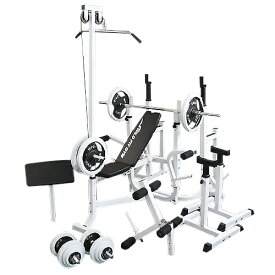 マルチフルセット 白ラバー 100kg[WILD FIT ワイルドフィット] 送料無料 バーベル ベンチプレス トレーニング ウエイト ダンベル スクワット 大胸筋 腹筋 フィットネス