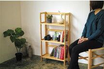 シェルフ折りたたみ木製棚オープンシェルフおしゃれ北欧西海岸収納棚収納ラック収納家具ラックディスプレイラック書棚ブックシェルフかわいい3段タイプブラウンナチュラルホワイト送料無料