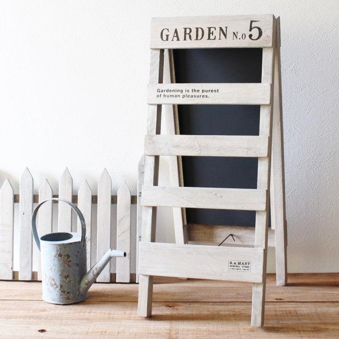 看板 黒板 ブラックボード 木製 ラダー スタンド はしご 梯子 ディスプレイ おしゃれ ナチュラル インテリア ウッド ガーデニング 雑貨