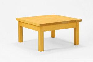 匠のガーデンテーブル 60cm×60cm×希望高さ(30〜40cm)(色:パイン) 【無垢 天然木製 ローテーブル ベランダガーデン おしゃれ 日本製 完成品 送料無料】