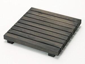 ウッドデッキ匠 すのこデッキ 30cm×30cm×厚み4cm:12枚セット(色:ブラウン)【ベランダ 天然木製 ウッドパネル ベランダガーデン おしゃれ 日本製 送料無料】
