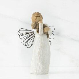 ウィローツリー天使像 友情 | 犬 おしゃれな天使の置物 大人向け フィギュア 人形 インテリア雑貨 Willow Tree Angel of Friendship 正規輸入品