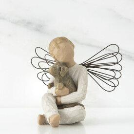 ウィローツリー天使像 安らぎ 犬 おしゃれでかわいい天使の置物 オブジェ 彫刻 フィギュリン 人形 インテリア雑貨 Willow Tree Angel of Comfort 正規輸入品