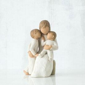 ウィローツリー彫像 穏やかな日々   二人目 男の子 女の子 お揃い おしゃれな置物 大人向け フィギュア 人形 インテリア雑貨 Willow Tree Quietly 正規輸入品