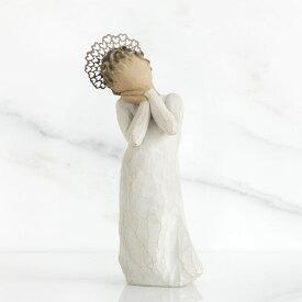 ウィローツリー天使像 天使の愛   ハート ティアラ おしゃれな天使の置物 大人向け フィギュア 人形 インテリア雑貨 Willow Tree Angel Love 正規輸入品
