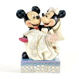 ミッキーとミニー 結婚式 ウェディング 16.8cm | ディズニー フィギュア 大人向け 人形 置物 ジムショア グッズ Mickey & Minnie Wedding ジム・ショア ディズニー トラディションズ JIM SHORE DISNEY TRADITIONS 正規輸入品