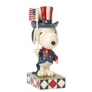 アメリカ代表 スヌーピー 15.2cm | スヌーピー フィギュア 大人向け 人形 置物 ジムショア グッズ Patriortic Snoopy ジム・ショア ピーナッツ JIM SHORE PEANUTS 正規輸入品