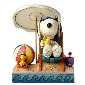 スヌーピー ウッドストック ビーチ 13cm | Snoopy and Woodstock at Beach ジム・ショア ピーナッツ JIM SHORE
