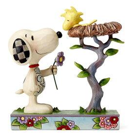スヌーピーと巣の中のウッドストック 17.1cm | スヌーピー フィギュア 大人向け 人形 置物 ジムショア グッズ Snoopy with Woodstock in Nest ジム・ショア ピーナッツ JIM SHOREJIM SHORE PEANUTS 正規輸入品
