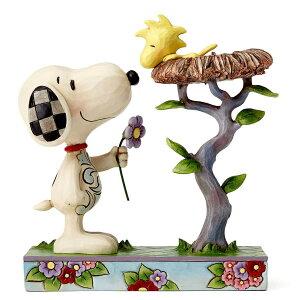 スヌーピーと巣の中のウッドストック 17.1cm ? スヌーピー フィギュア 大人向け 人形 置物 ジムショア グッズ Snoopy with Woodstock in Nest ジム・ショア ピーナッツ JIM SHOREJIM SHORE PEANUTS 正規輸入品
