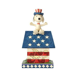 スヌーピー アメリカンドッグハウス 18cm | スヌーピー フィギュア 大人向け 人形 置物 ジムショア グッズ Snoopy Patriotic Doghouse ジム・ショア ピーナッツ JIM SHORE PEANUTS 正規輸入品