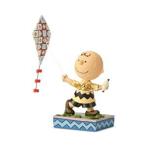 チャーリーブラウン 凧揚げ お正月 16cm | スヌーピー フィギュア 大人向け 人形 置物 ジムショア グッズ Charlie Brown Flying Kite ジム・ショア ピーナッツ JIM SHORE PEANUTS 正規輸入品