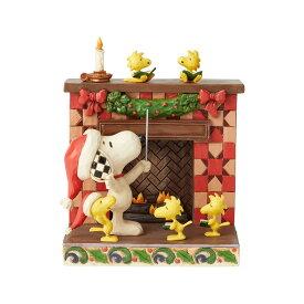 スヌーピー 暖炉 14.6cm | スヌーピー フィギュア 大人向け 人形 置物 ジムショア グッズ Snoopy at Fireplace ジム・ショア ピーナッツ JIM SHOREJIM SHORE PEANUTS 正規輸入品