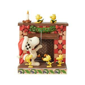 スヌーピー 暖炉 クリスマス 14.6cm ? スヌーピー フィギュア 大人向け 人形 置物 ジムショア グッズ Snoopy at Fireplace ジム・ショア ピーナッツ JIM SHOREJIM SHORE PEANUTS 正規輸入品