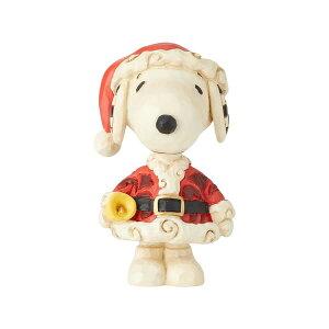 スヌーピー サンタ クリスマス ミニ 8.9cm | スヌーピー フィギュア 大人向け 人形 置物 ジムショア グッズ Snoopy Santa Mini Fig ジム・ショア ピーナッツ JIM SHORE PEANUTS 正規輸入品