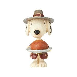 スヌーピー サンクスギビング ミニ 8.9cm   スヌーピー フィギュア 大人向け 人形 置物 ジムショア グッズ Snoopy Pilgrim Mini ジム・ショア ピーナッツ JIM SHORE PEANUTS 正規輸入品