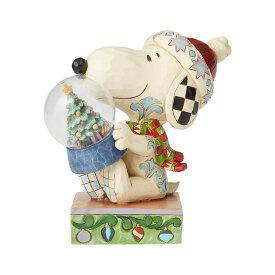 スヌーピー スノードーム クリスマス 13.3cm   スヌーピー フィギュア 大人向け 人形 置物 ジムショア グッズ Snoopy Holding Dome with Tree ジム・ショア ピーナッツ JIM SHOREJIM SHORE PEANUTS 正規輸入品