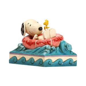 スヌーピー ウッドストック ゴムボートでゆらゆら 10.2cm | スヌーピー フィギュア 大人向け 人形 置物 ジムショア グッズ Snoopy/Woodstock in Floatie ジム・ショア ピーナッツ JIM SHORE PEANUTS 正規輸入