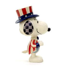 スヌーピー アメリカン ミニ 9.5cm | スヌーピー フィギュア 大人向け 人形 置物 ジムショア グッズ Mini Snoopy Patriotic ジム・ショア ピーナッツ JIM SHOREJIM SHORE PEANUTS 正規輸入品