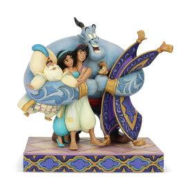 アラジン グループハグ 20cm | ディズニー フィギュア 大人向け 人形 置物 ジムショア グッズ Aladdin Group Hug ジム・ショア ディズニー トラディションズ JIM SHOREJIM SHORE DISNEY TRADITIONS 正規輸入品