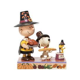 チャーリーブラウン スヌーピー ウッドストック サンクスギビング 14.6cm | Thanksgiving Charlie Brown ジム・ショア ピーナッツ JIM SHORE