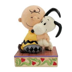 チャーリーブラウン スヌーピー ハグ 12.1cm | Charlie Brown Snoopy Hugging ジム・ショア ピーナッツ JIM SHORE