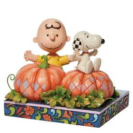 チャーリーブラウン スヌーピー パンプキンパッチ ハロウィン 11.4cm   CB/Snoopy in pumpkin patch ジム・ショア ピーナッツ JIM SHORE