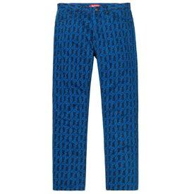 シュプリーム ウォッシュレギュラー ジーンズ 32インチ Supreme washed regular jeans Blue